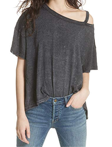 Free People Women's Alex Tee Dark Grey Small