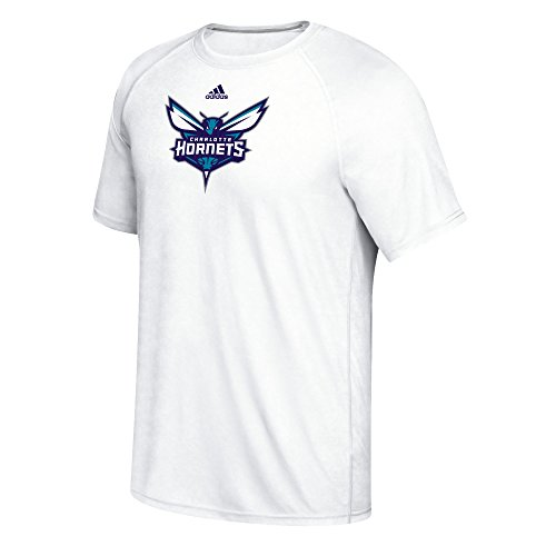 fan products of NBA Charlotte Hornets Men's Phrase Hat Hook Climalite Ultimate Tee, Large, White