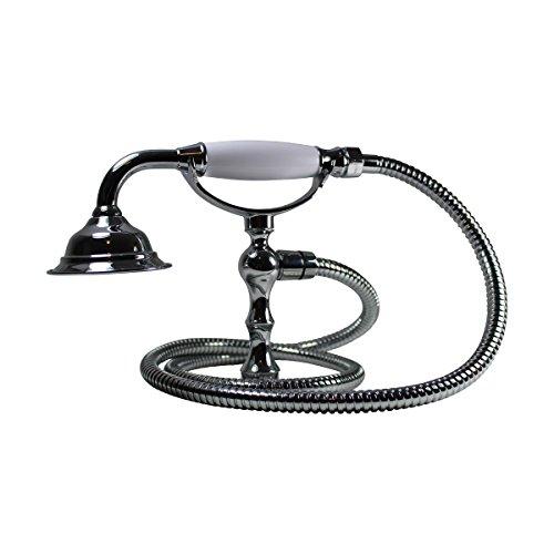 (Renovator's Supply Handheld Telephone Shower Head Set With 58in Flex Hose Chrome)