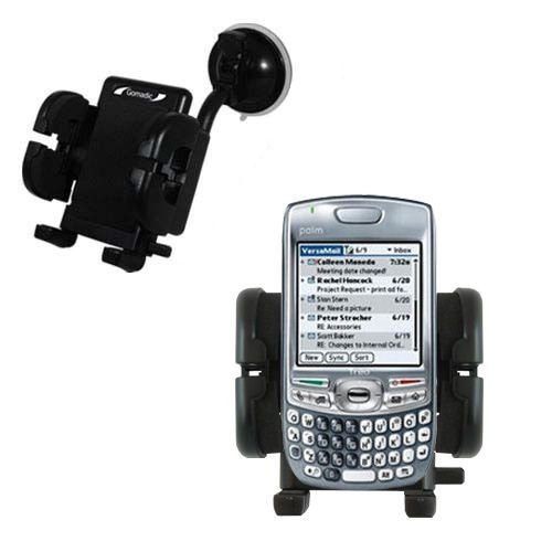 Gomadic Brand Flexible Car Auto Windshield Holder Mount designed for the Palm Treo 680 - Gooseneck Suction Cup Style Cradle
