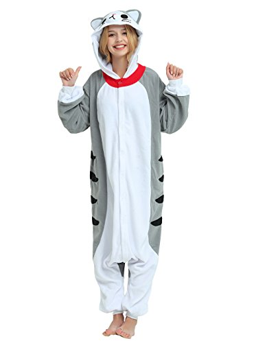 Es Unico Sweet Chi Cat Onesie for Adult and Teenagers. Halloween Pajama Costume.Large -