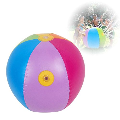 29 Inch Inflatable Beach Ball Sprinkler Water Ball Outdoor Swimming 29