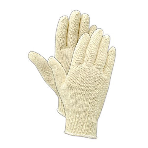 Magid Safety KnitMaster T194COT Gloves | 100% Cotton Ambidextrous Machine Knit Gloves with Insulated Liner - Reversible, 9.5