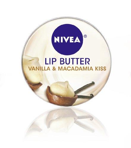 Nivea Lip Butter lâche Tin, vanille et noix de macadamia Kiss, 0,59 once