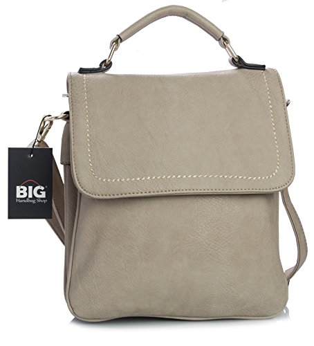 Marron Tan main Sac multiples pour sacoche femme Beige Medium Shop Poches à Big style Handbag Taille S ZpORO