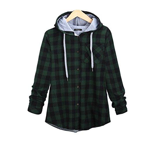 plaid jacket with hood - 2
