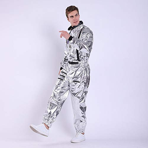 WEEOH Astronaut Costume Spaceman Suit Halloween Costumes - Funny Cosplay Party (Man -XXL) Silvery]()