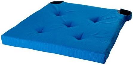 IKEA JUSTINA Coussin de chaise, bleu 35 42x40x4.0 cm