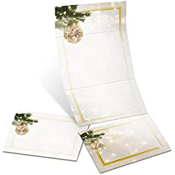 Golden Glitz Printable Fold-up Seal and Send Invitations, 65 lb, 5.5 Inches x 14 Inches, 28 Count