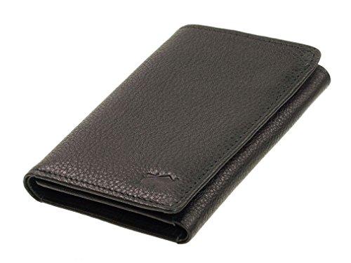 Braun Büffel Savona Porte-cartes de crédit cuir 8,5 cm noir