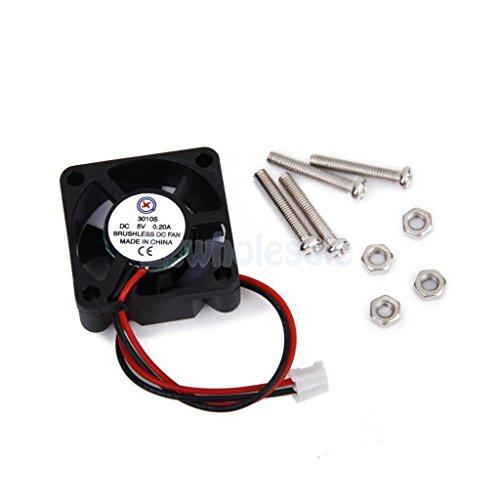 DC 5V 2 pin Cooling Fan w/ Screws for Raspberry Pi Model B+ / Raspberry Pi 2 by e2wholesale (Image #1)