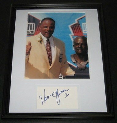 - Warren Moon Signed Framed 11x14 Photo Display Oilers HOF Induction