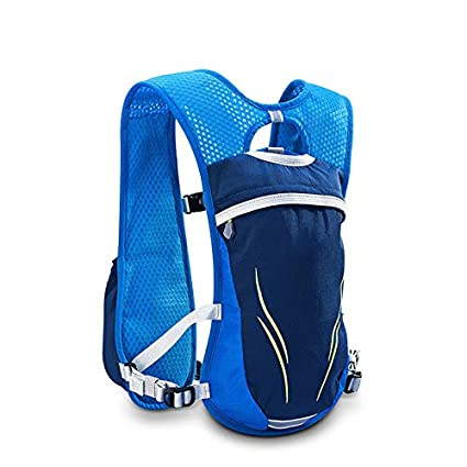 XUSHSHBA Nylon 5.5L Outdoor Running Bags Hiking Backpack Vest Marathon Cycling Backpack for 250Ml Water