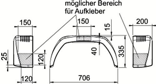AL-KO EA220 Anh/änger Kotfl/ügel