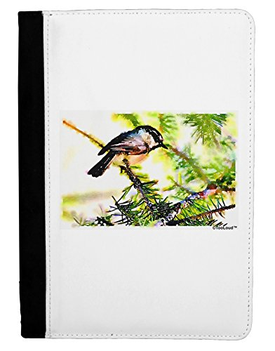 TooLoud CO Chickadee Watercolor Ipad Mini Fold Stand Case - Black