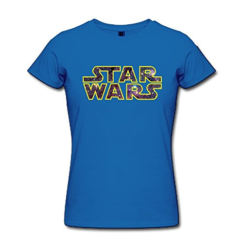 AOPO Star Wars Logo T Shirts For Women Small RoyalBlue (Halloween Costumes Seattle)