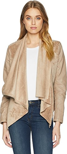 [BLANKNYC] Blank NYC Women's Faux Suede Drape Front Jacket in Hump Day Hump Day X-Small