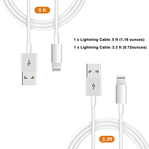 iPhone Charger,Lightning Cable Charger Kit (Dual USB Car Charger+Wall Charger+2 X Lightning Cables) for iPhone 8,iPad Charger Kit for iPhone X/8/7/6s/5s/Plus, iPad Pro/Air 2/Mini and More by YouCoulee (Image #1)