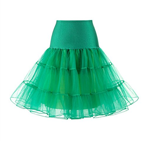 Multistrato Balletto Gonna Anni Costume Donne Partito Sottogonna in Green 50 AILIENT Tulle Petticoat Gonna Vintage Puffy AY4xv1Txq