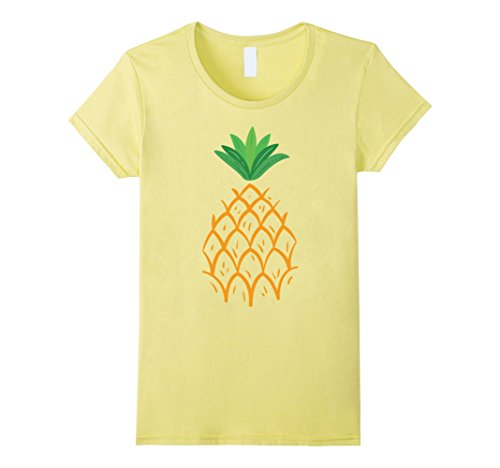 Womens Funny Halloween Pineapple Costume T-shirt XL Lemon