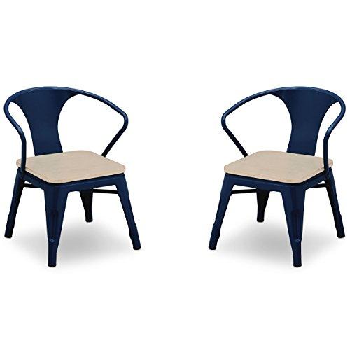 Delta Children Bistro 2-Piece Chair Set, Navy with Driftwood by Delta Children