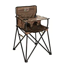 ciao! Baby Portable High Chair, Chocolate with Carrying Case