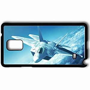 Personalized Samsung Note 4 Cell phone Case/Cover Skin Ace Combat F 22 Raptor Fighter Clouds Black