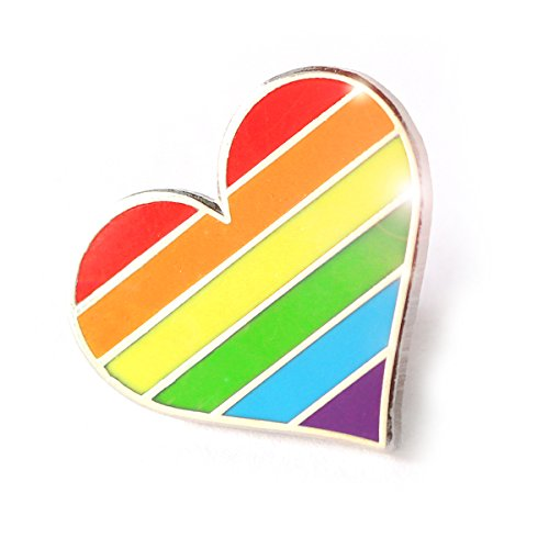Pride pin LGBTQ gay heart flag - An enamel pin decoration for clothes and bags