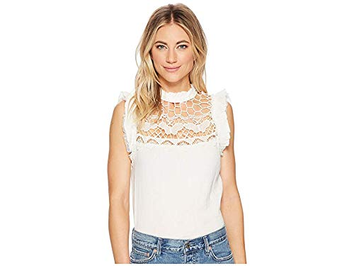 Free People Women's Simply Smiles Crochet Top Ivory X-Small