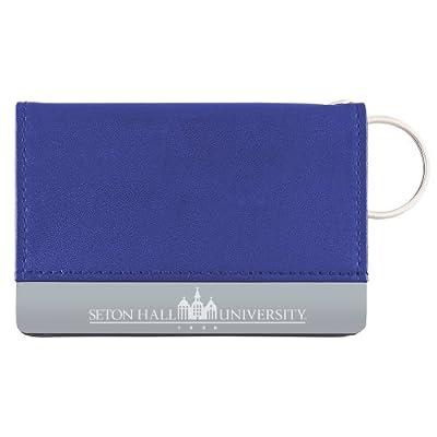 Seton Hall University - Leather ID Holder - Blue
