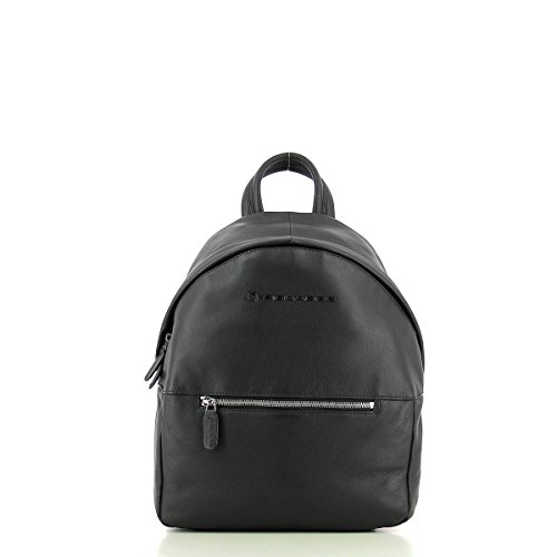 Small leather backpack NERO