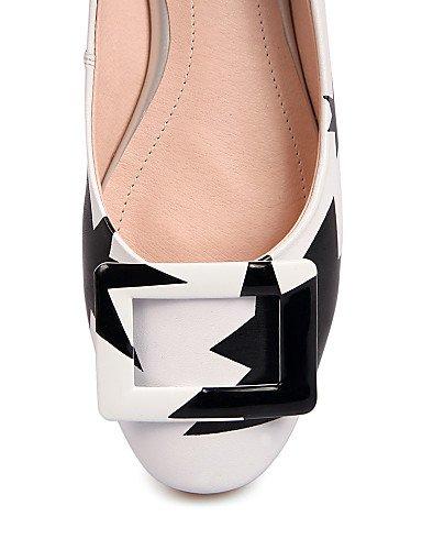 PDX zapatos y uk3 soporte redonda negro talón blanco oficina gladiador 5 de y rosa de cn35 Flats us5 De Vaca 5 casual pink punta carrera eu36 de mujer XHXdrw4q