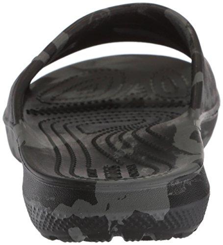 Crocs Unisex Classic Swirl Slide GS Sandal, Black, 2 M US Little Kid by Crocs (Image #2)