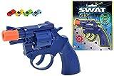 Kids SWAT 8 Shot CAP Gun -Toy CAP Pistol, Revolving Pistol, EPIC BANGS Gun Fight & 1 x RACING Car Eraser