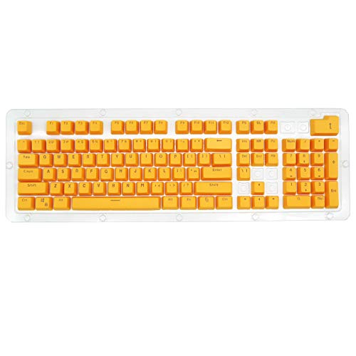 Puyong 104 Keys PBT Keycap Set for Cherry Mx Kailh/Outemu Switch/Gateron Switch Keyboard/Most Mechanical Keyboards(Only keycaps),Yellow
