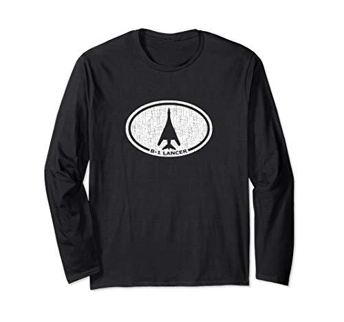 B-1 Lancer Heavy Bomber Airplane Long Sleeve T-Shirt Bomber Long Sleeve T-shirt