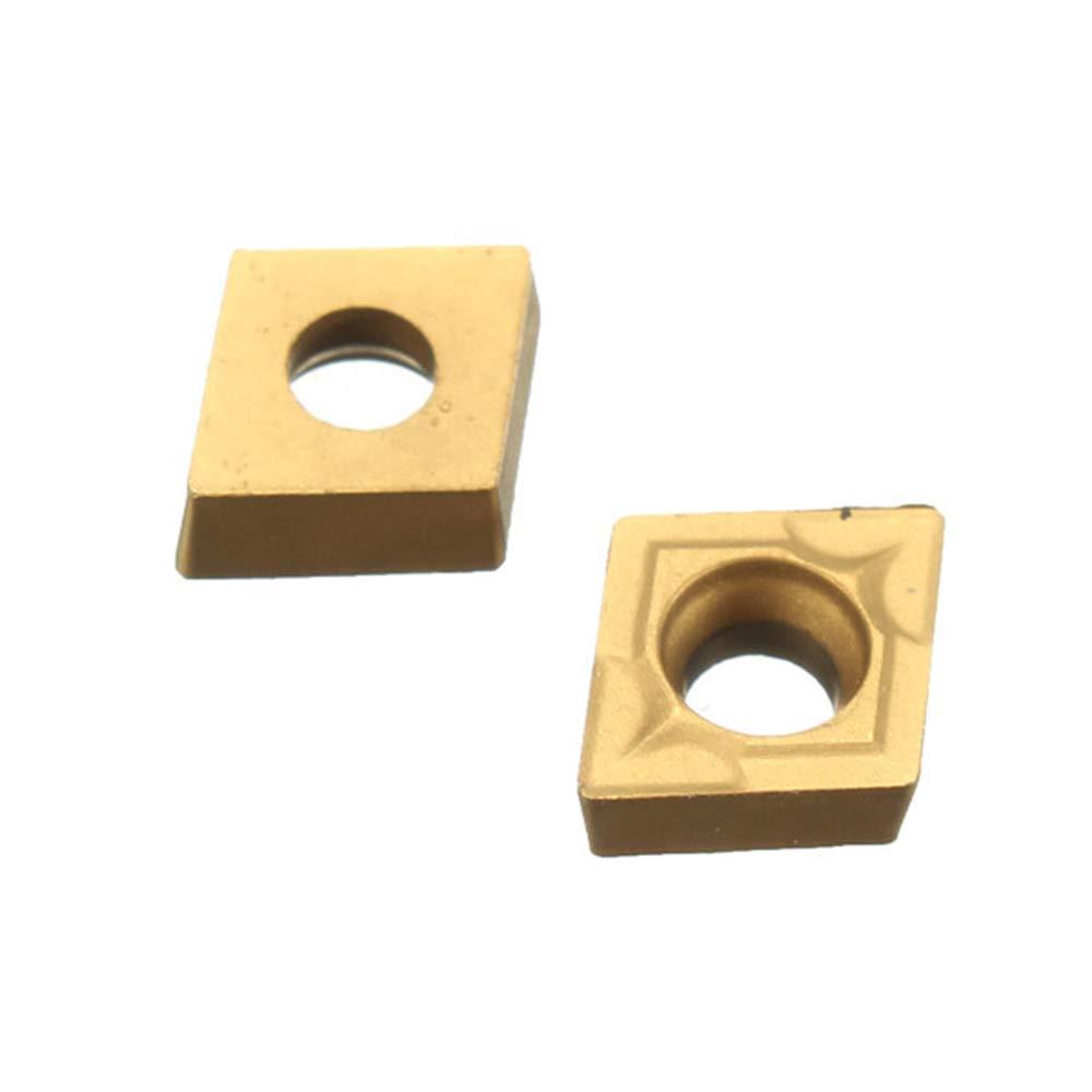 Festnight 10Pcs CCMT060204 US735 CCMT21.51 Torno CNC Hoja de inserci/ón para acero//Acero
