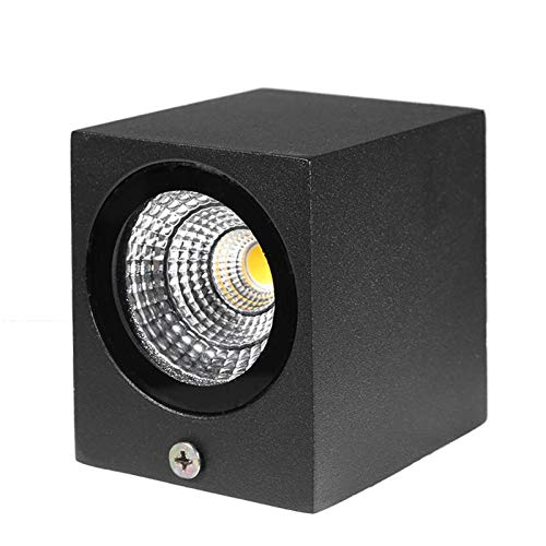 (JKBDNB Indoor and Outdoor Wall Lamp 3W P65 Modern Brief Cube LED Wall Light Waterproof Indoor Outdoor Surface Mounted Lamp Garden Light for Bedroom Hallway Aisle )