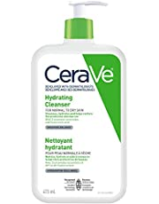 CeraVe Hydrating Face Wash, Daily Facial Cleanser for Dry Skin, Suitable for Sensitive Skin, Fragrance-Free, Verified Product by CeraVe, 473ml