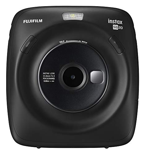 Fujifilm Instax Square SQ20 Instant Film Camera – Black