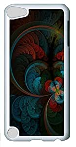 Abstract Feather Polycarbonate Hard Case Cover for Apple iPod 5/iPod Touch 5 White