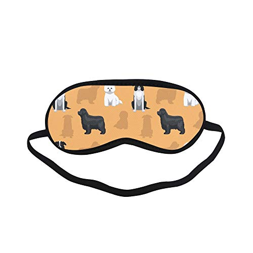 All Polyester Than Bear Cute Pet Animal Pet Hairy Little Dog Design Sleeping Eye Masks&Blindfold by Simple Health with Elastic Strap&Headband for Adult Girls Kids and for Home Travel