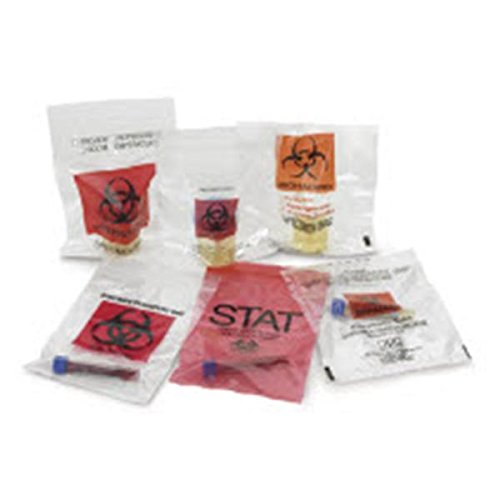WP000-PT 4075 4075 Bag Specimen Biohazard Logo ClEar 2mL 6x9'' 1000/Ca Medical Action Industries by Medical Action Industries