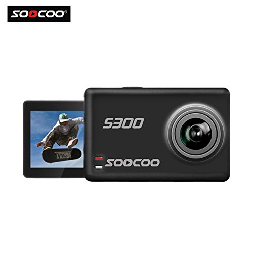 16GB TF Card + SOOCOO@ S300 4K HD 12MP 2.35 Inch TFT Touch WIFI Screen Sports Action Video Camera DV 170 Degrees Wide Angle Lens Portable Outdoor Underwater Sports Action Camcorder DVR (Hybrid Dvr Card)