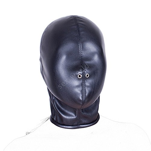 Adult Games Sex Products, Funny Sex Mask, Soft PU Leather Bondage Restraints Hood Mask,BDSM Adult Game for Woman and Men by Sex Toys Gamess