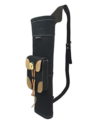 ArcheryMax Traditional High-grade Handmade Suede Back Side Quiver Archery Product for Hunting