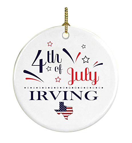 4Th Of July Decorations For The Home Irving Texas Independence Day Decor Decorations Patriotic American Red White Blue Star Decorations America Pride Ceramic 3 inches]()