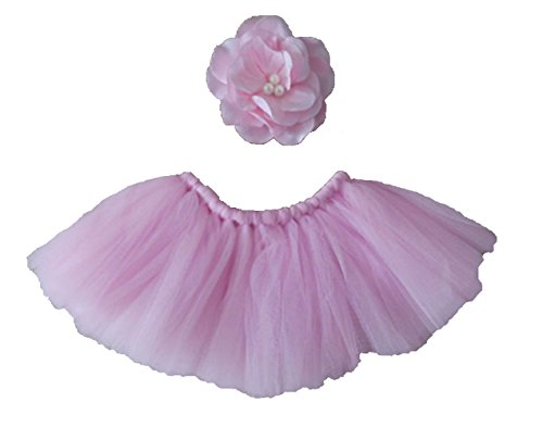 Starlite Props Newborn Pink Tulle Tutu Photo Prop Dance Outfit (Halloween Costume Ideas For Pregnant Couples)