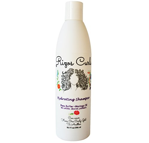 Rizos Curls Hydrating Shampoo for Curly Hair. Shea Butter Moringa Oil. Moisturizes, Strengthens Every Curl with Natural Products and Vitamins. Reduces Dry Scalp. Latina Hair Care Products