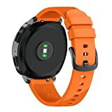 For Samsung Gear Sport,Outsta Sport Soft Silicone Replacement Wristband Wrist Strap (Orange)